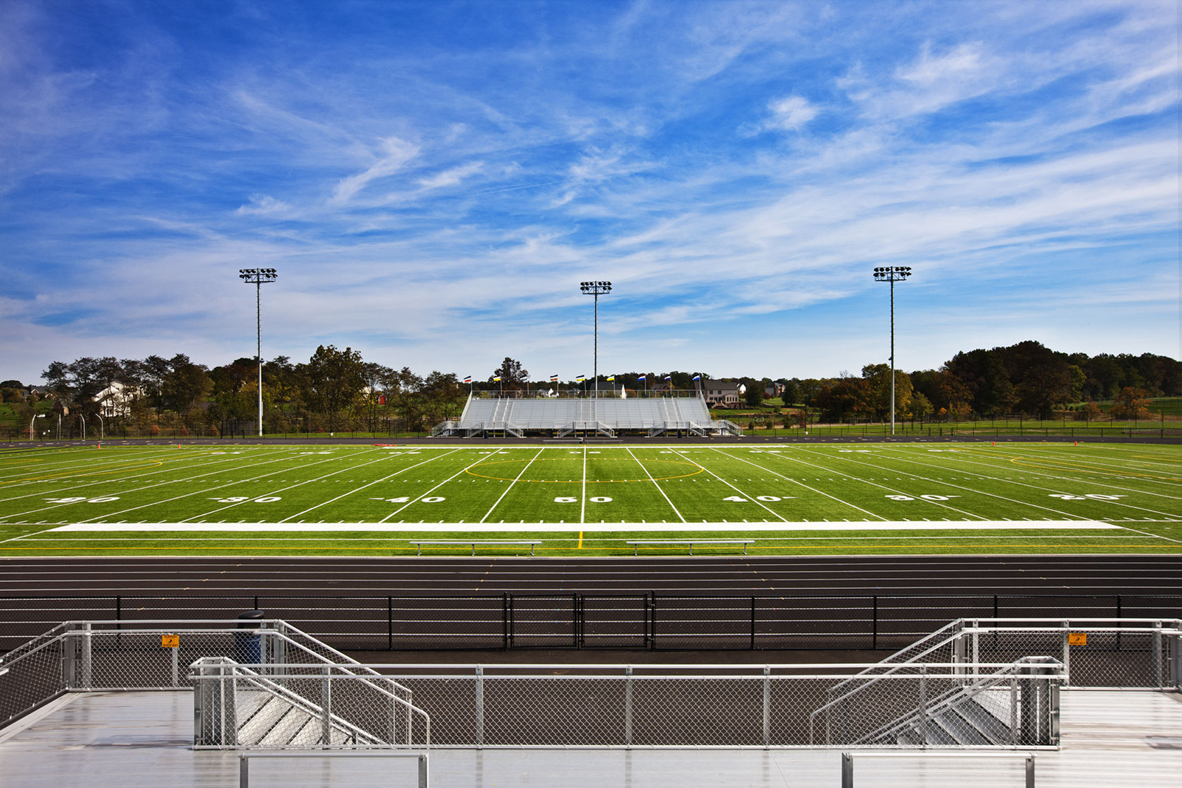 Architectural of Engineering photo of a high school football field
