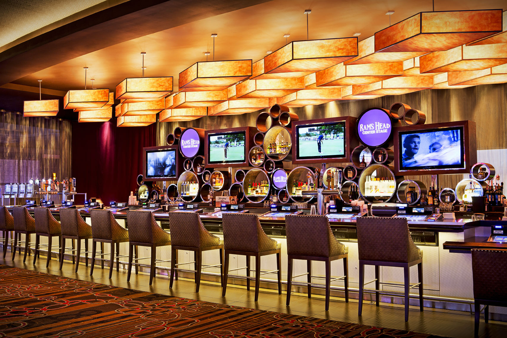 architectural photograph of a casino interior by Dan Poyourow