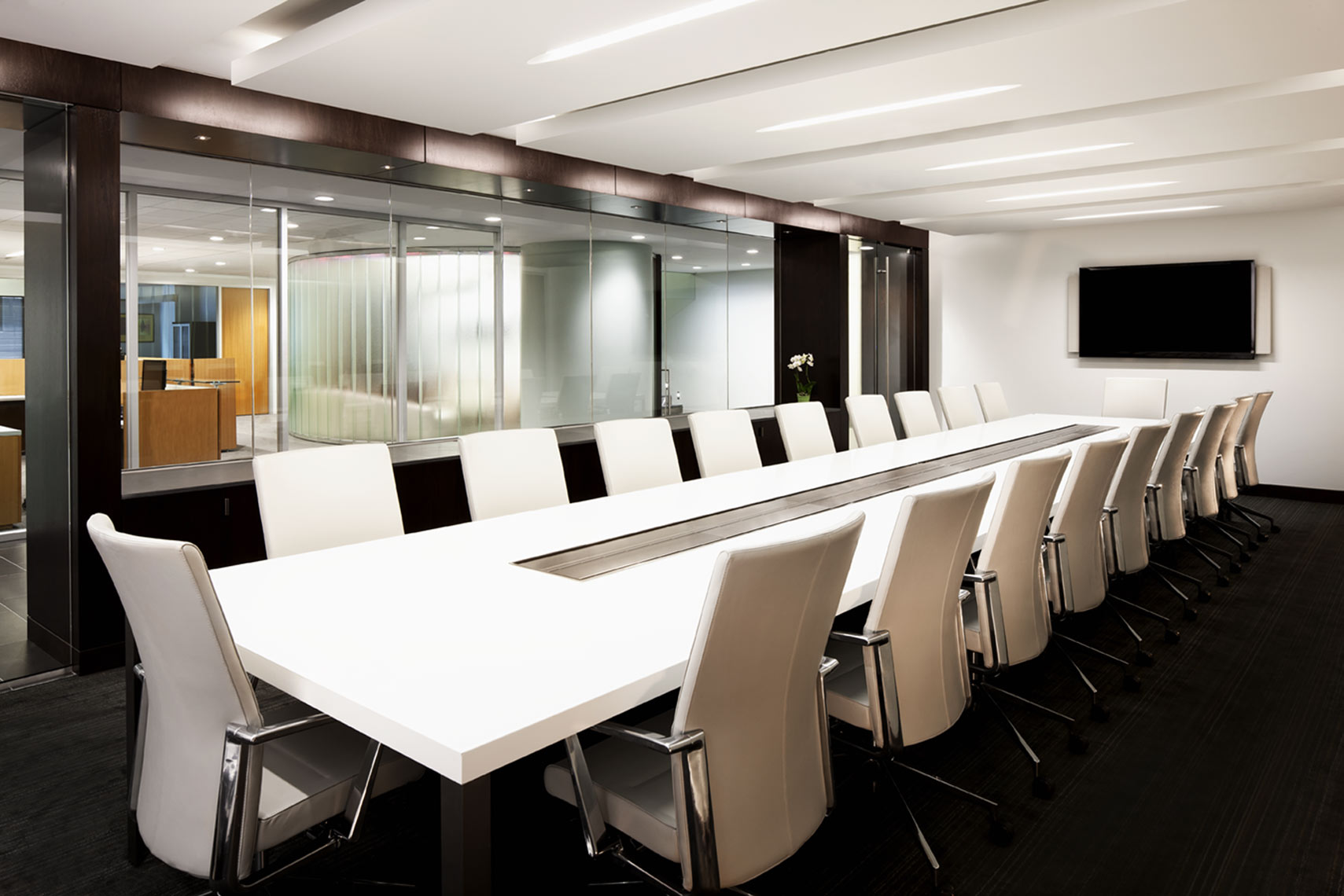 architectural photograph of an office building conference room by Dan Poyourow