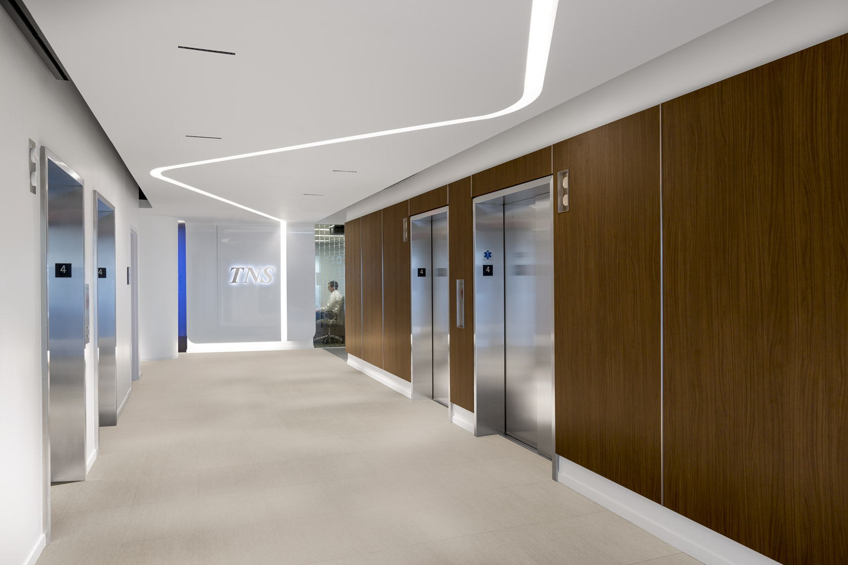 architectural photograph of office interior by Dan Poyourow