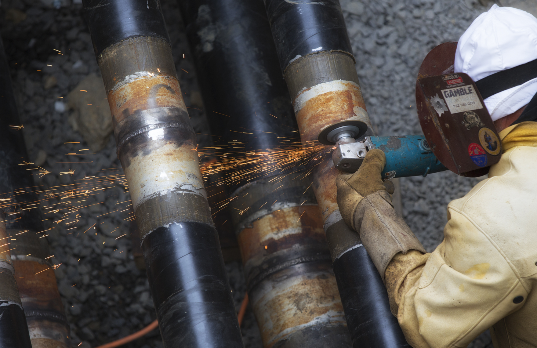 Industrial photo of carrier pipe welding